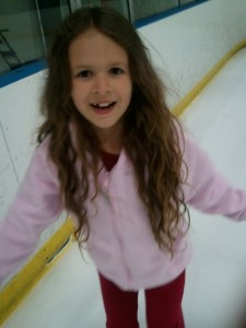 Okay Summer decided not to come out today, so we went ice skating.