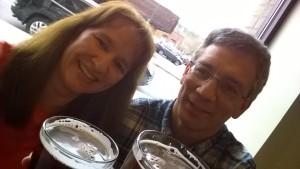 Scott Hopper and Judy at Tipsy Burger